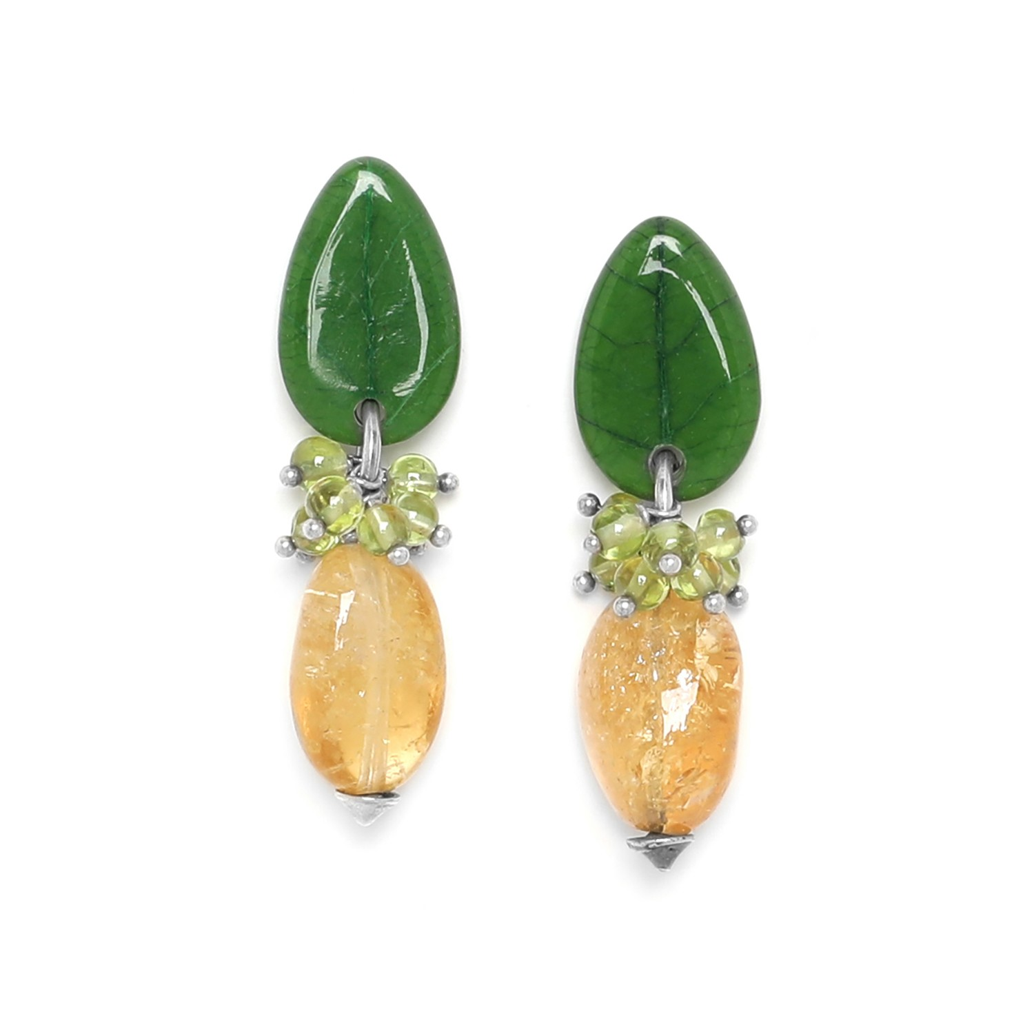 CITRUS citrin earrings