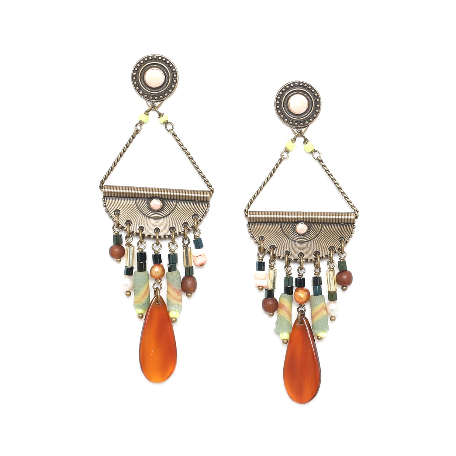 KUMASI boucles d'oreilles balancier multirangs