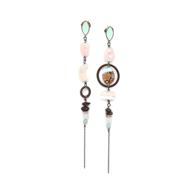 HOCUS POCUS long earrings w/enameled top