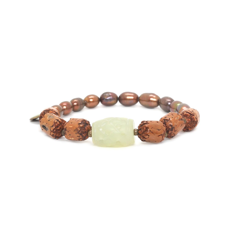 BURUNDI extensible moitié perles