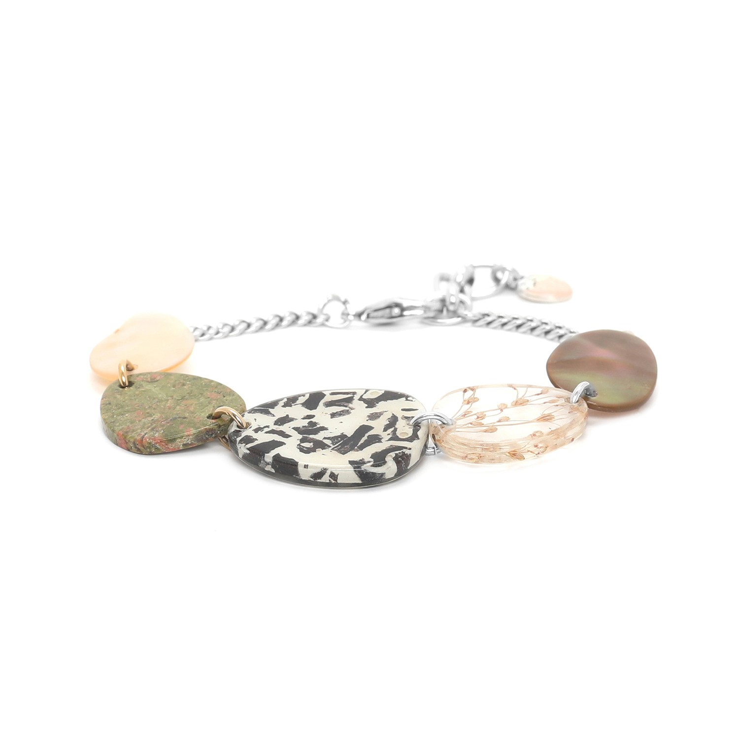 NATURALISTE 5 element & chain bracelet