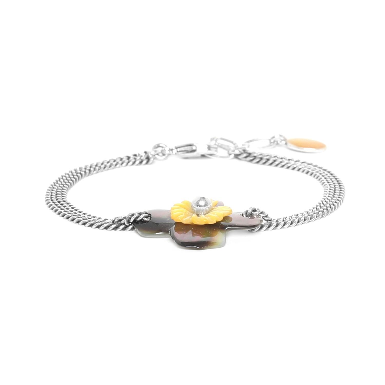 FLEURS DE NACRE bracelet nacre noire