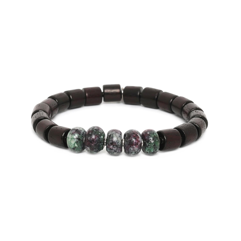 SANTAL bracelet homme extensible zoisite