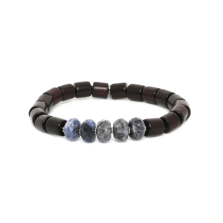 SANTAL bracelet homme extensible sodalite