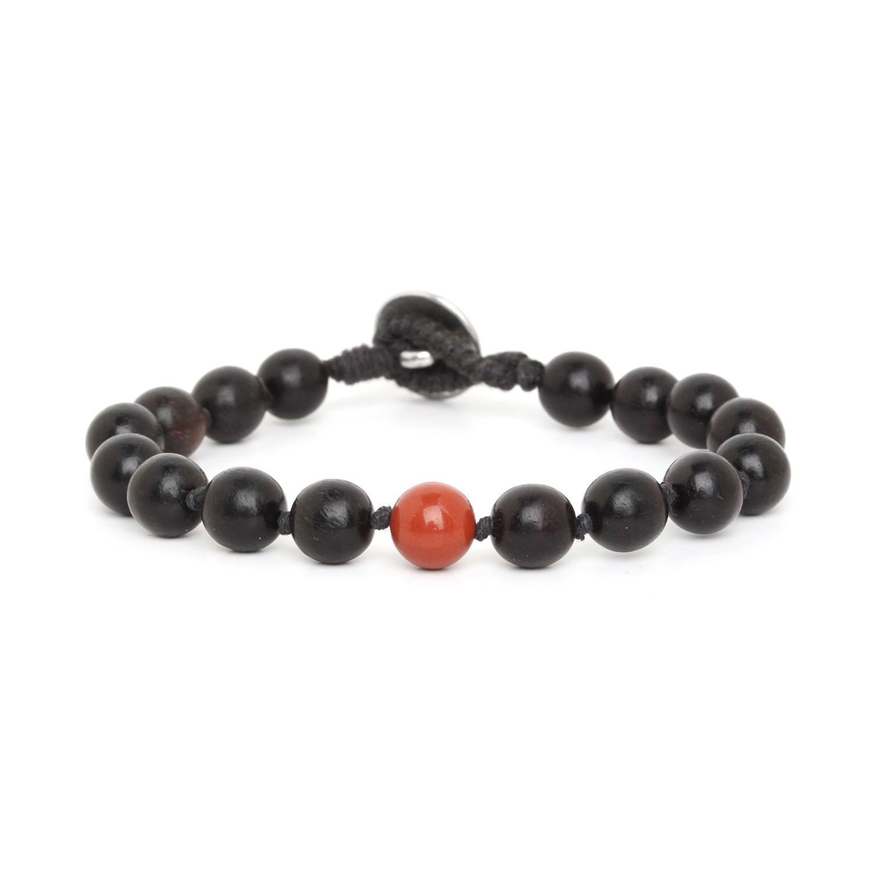 BOUTON bracelet homme jaspe rouge