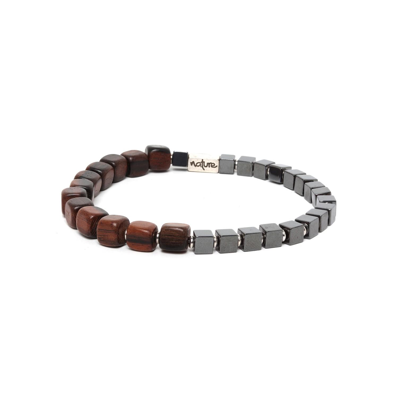HALFWAY bracelet homme hematite & ébène