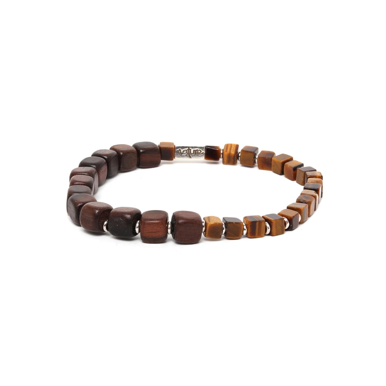 HALFWAY bracelet homme oeil de tigre & ébène