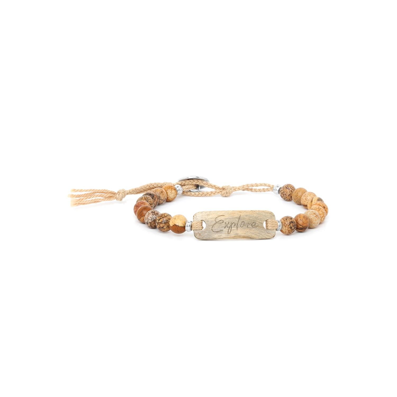 EXPLORE bracelet jaspe & tamarinier