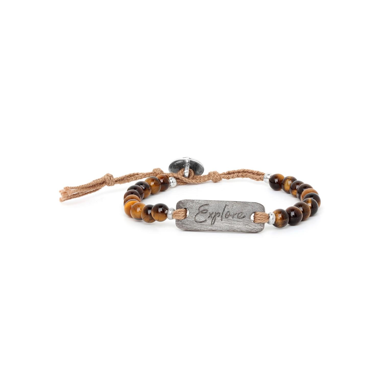 EXPLORE bracelet oeil de tigre & ébène