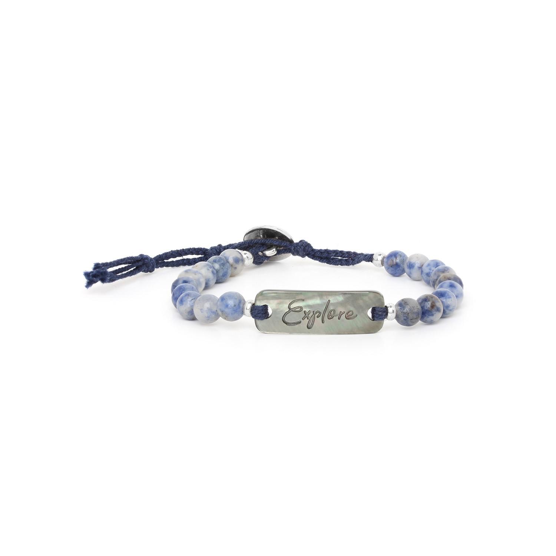 EXPLORE bracelet sodalite & nacre noire