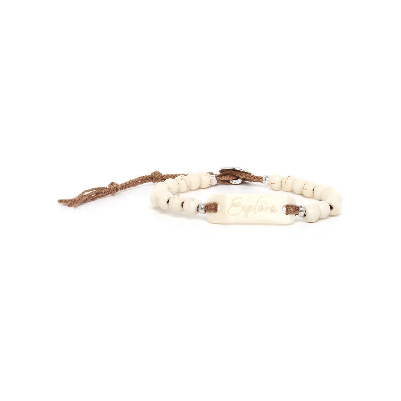 EXPLORE bracelet howlite & os