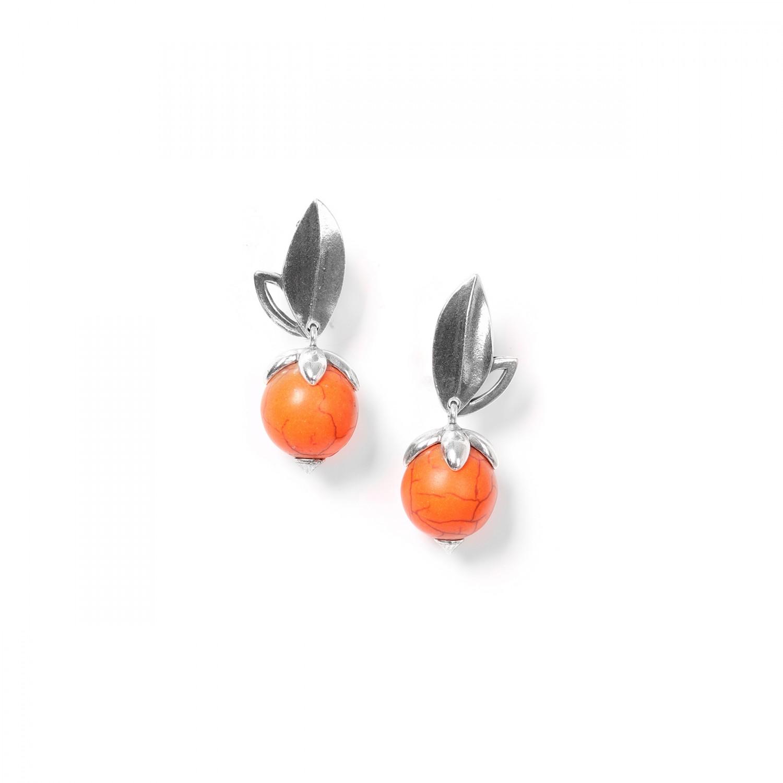 LES FRUITS Clips howlite naranja
