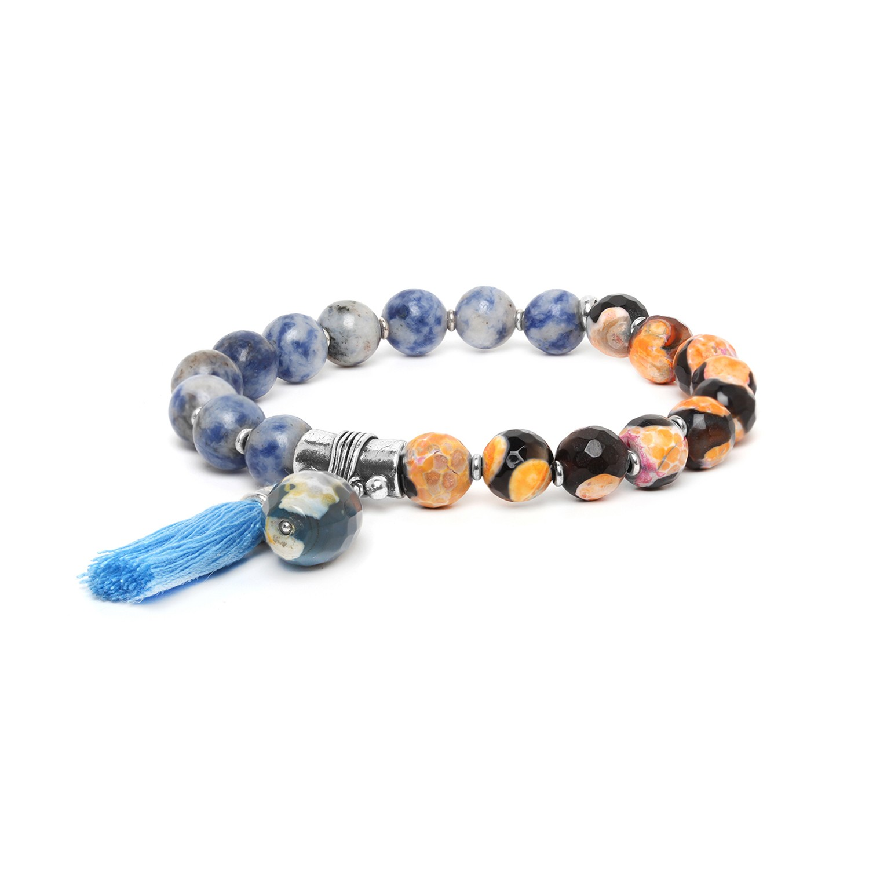 LES DUOS bracelet agate & sodalite