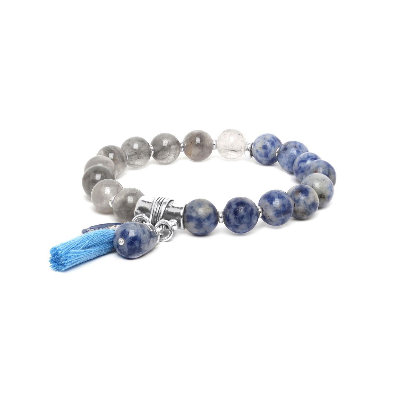 LES DUOS bracelet sodalite & agate