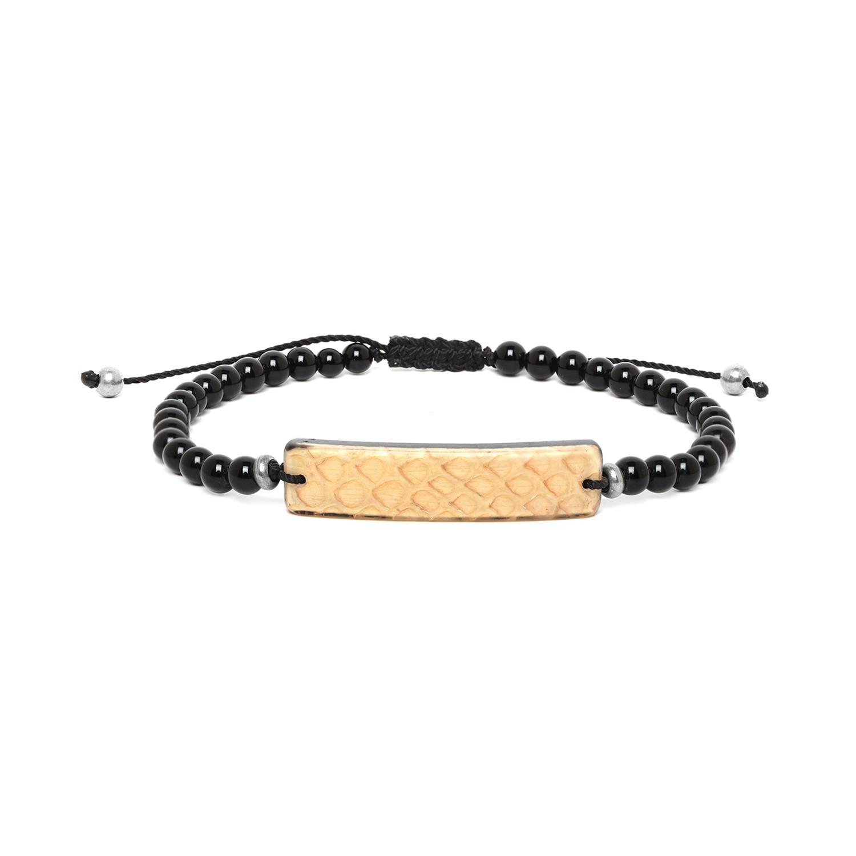 SERPENT bracelet homme beige