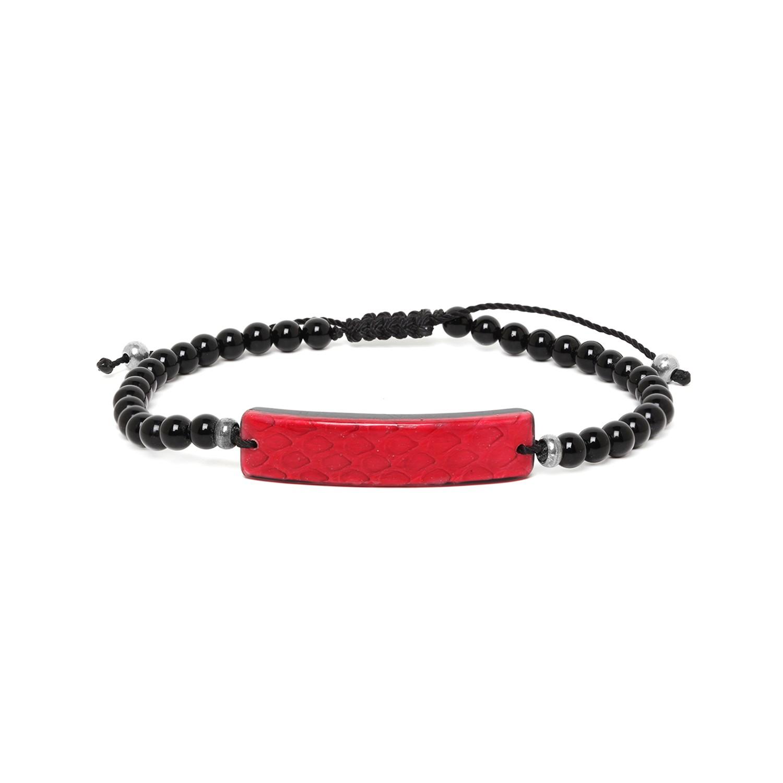 SERPENT bracelet homme rouge