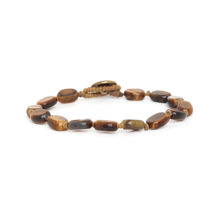 TIGER EYE bracelet homme petites perles ovales