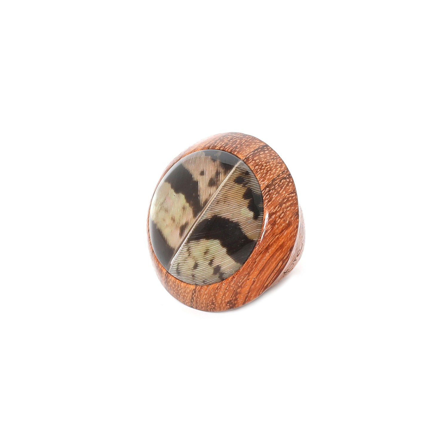 AMHERST large wooden ring  S54