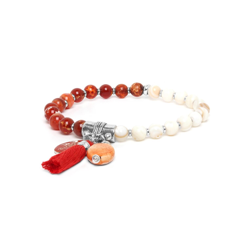 LES DUOS bracelet strombus & agate