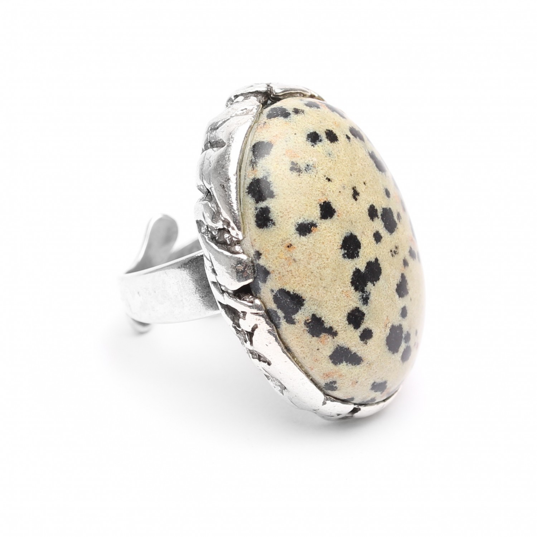 ANAY dalmatian jasper ring