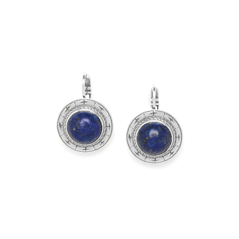 NOMAD boucle dormeuse ronde lapis lazuli