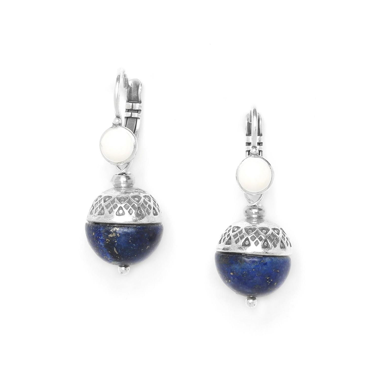 MOON boucle dormeuse lapis lazuli