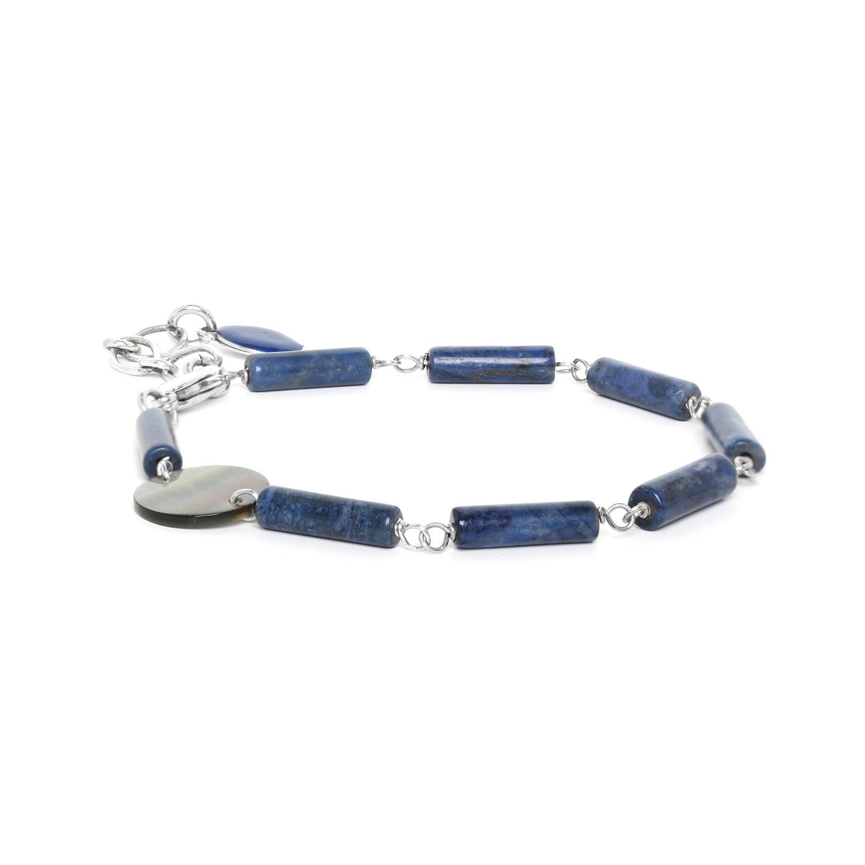 LOOPING bracelet lapis lazuli & Nacre
