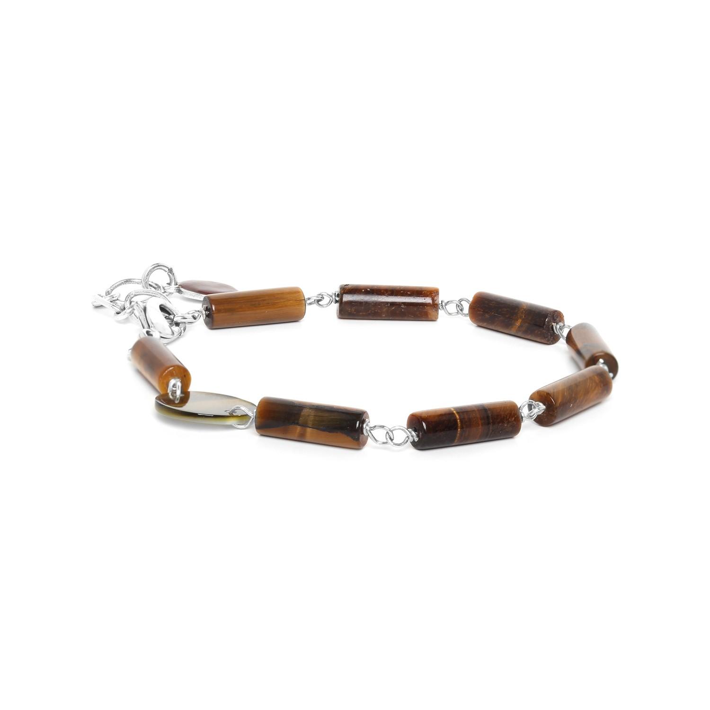 LOOPING bracelet oeil de tigre & Nacre