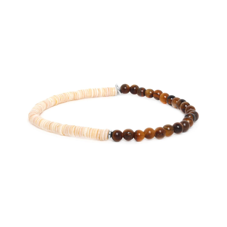 HEISHE bracelet extensible en oeil de tigre