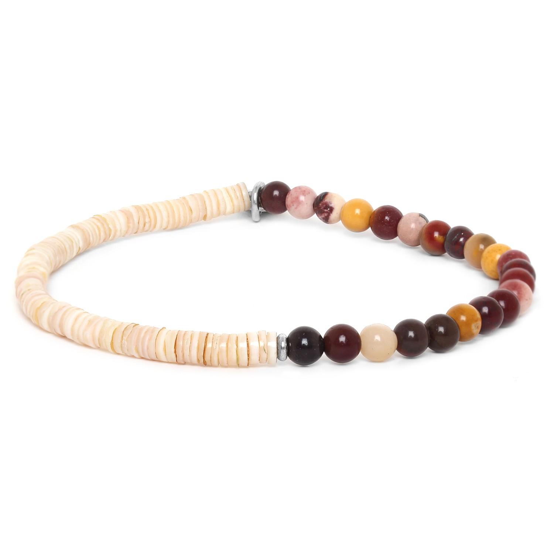 HEISHE bracelet extensible en moakite
