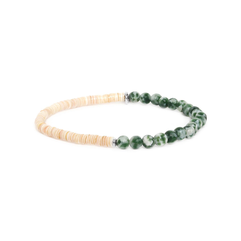 HEISHE bracelet extensible en jaspe vert
