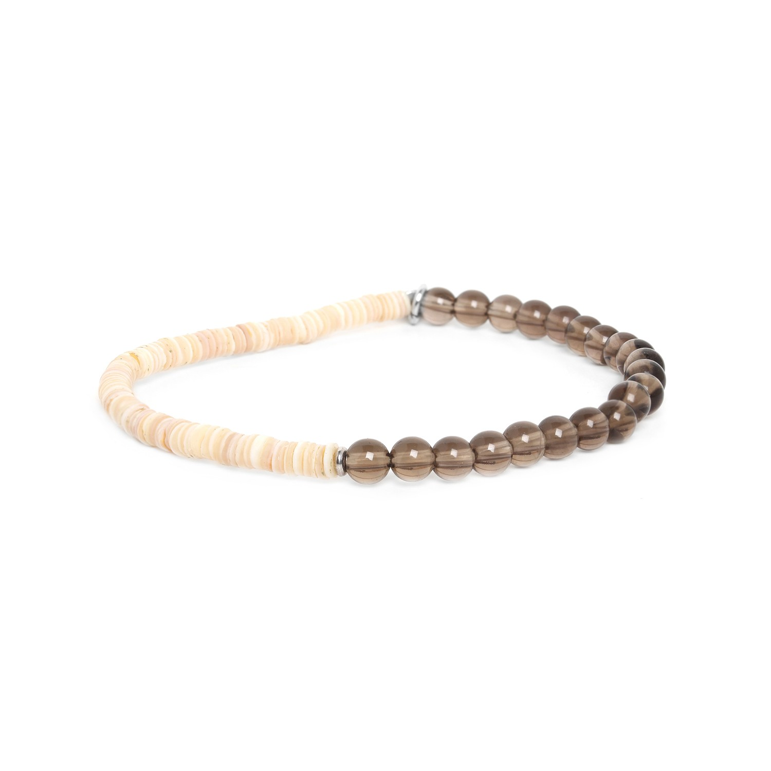HEISHE stretch smoky quartz bracelet