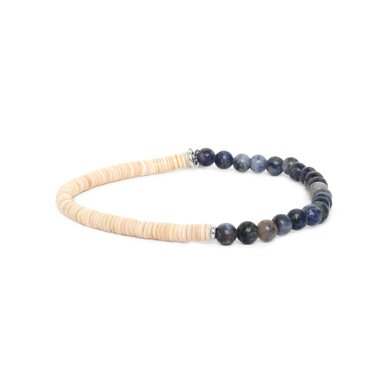 HEISHE bracelet extensible en jaspe bleu