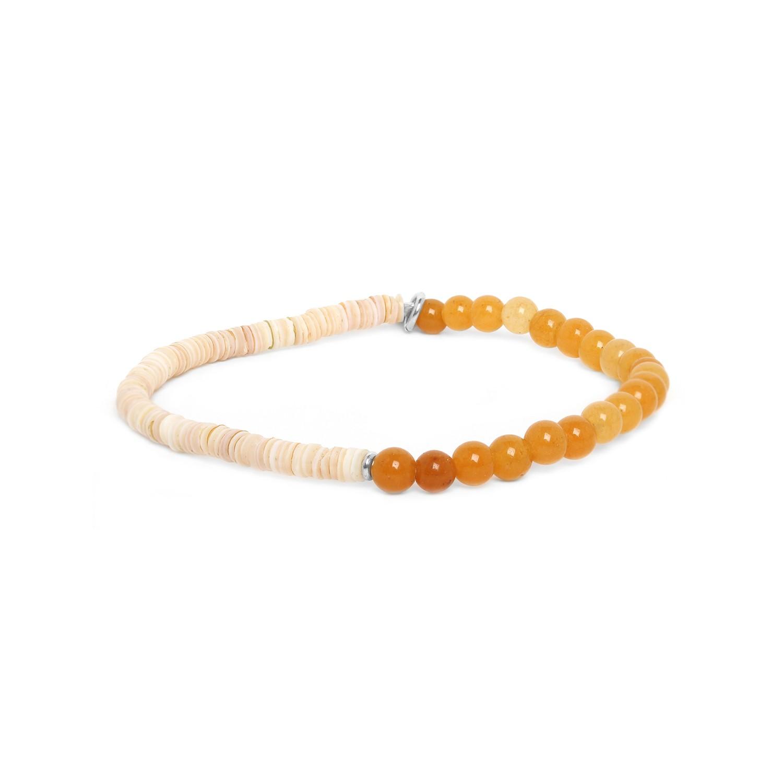 HEISHE bracelet extensible en jaspe jaune