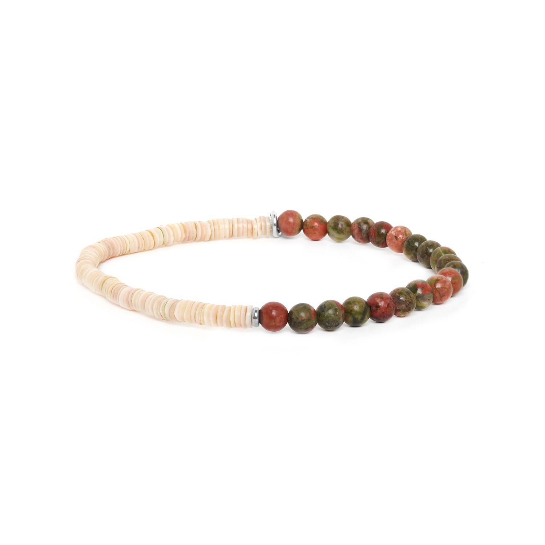 HEISHE bracelet extensible en unakite