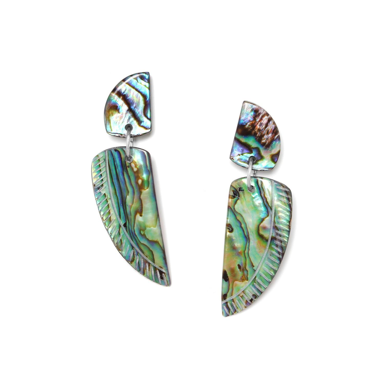 ENVOL paua wing earrings