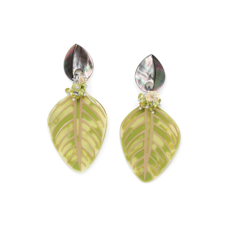 HERBORISTE bi color earrings