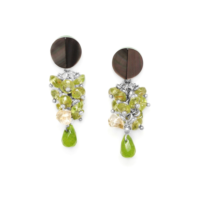 HERBORISTE grape earrings