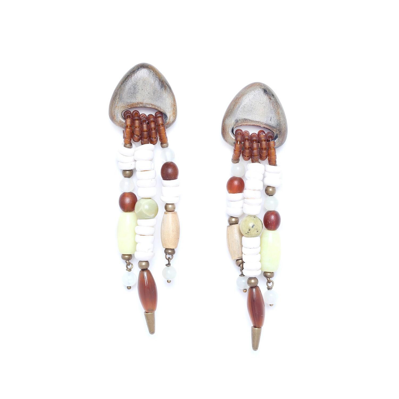 MAMBARE 3 row earrings
