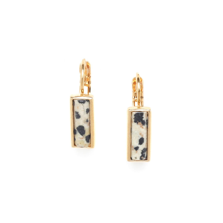 PIPELINE boucles d'oreilles jaspe dalmatien