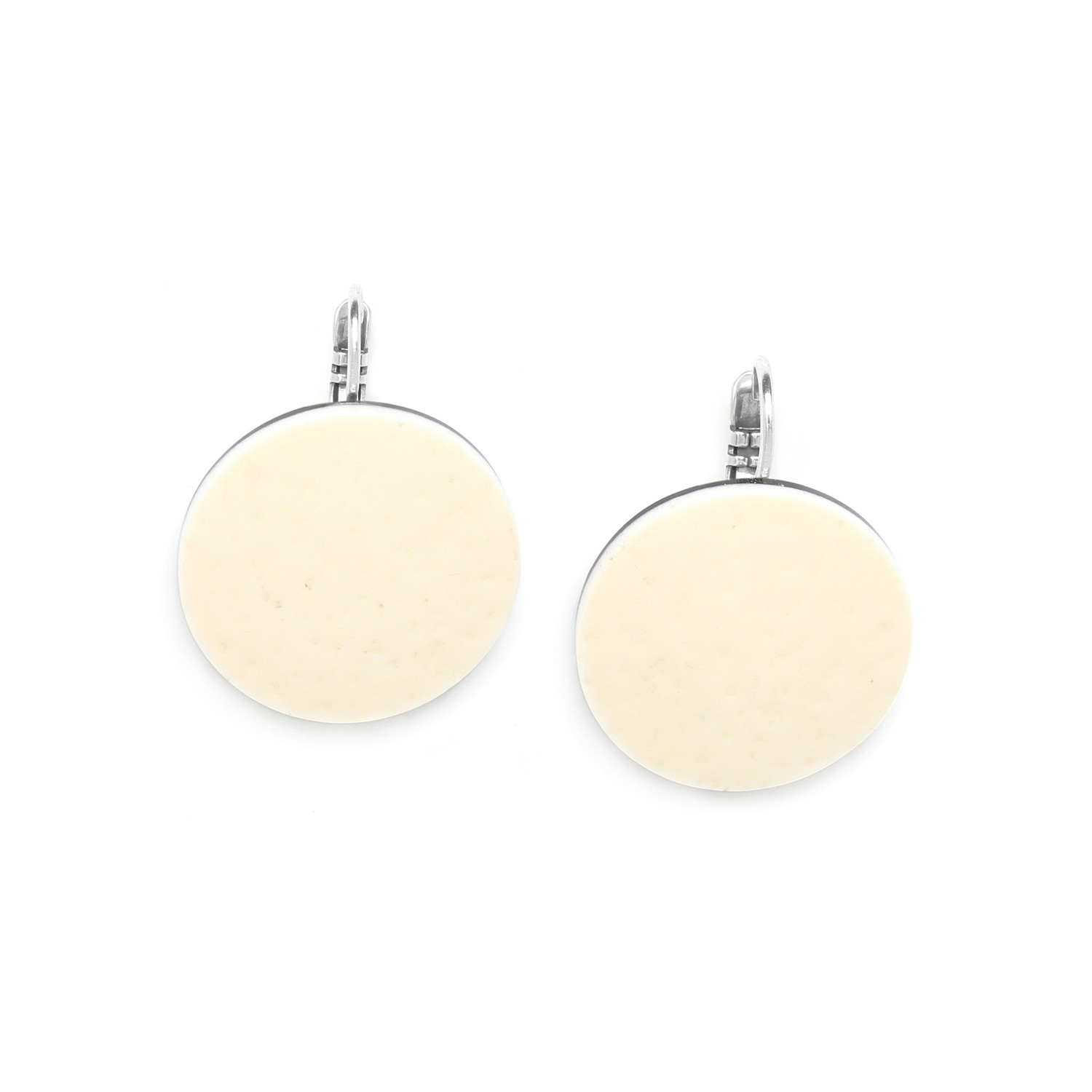 ZULU ostrich egg french hook earrings