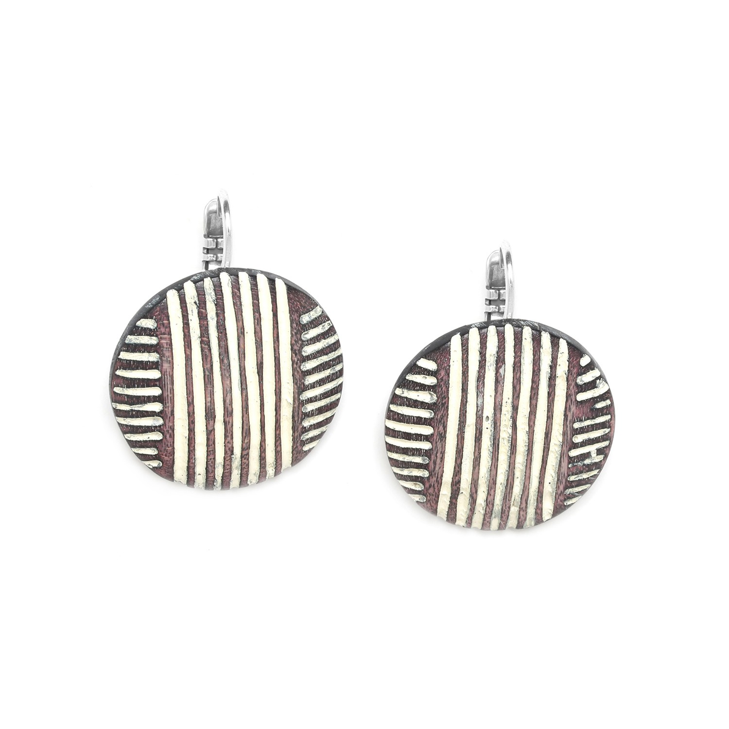 ZULU round shield french hook earrings