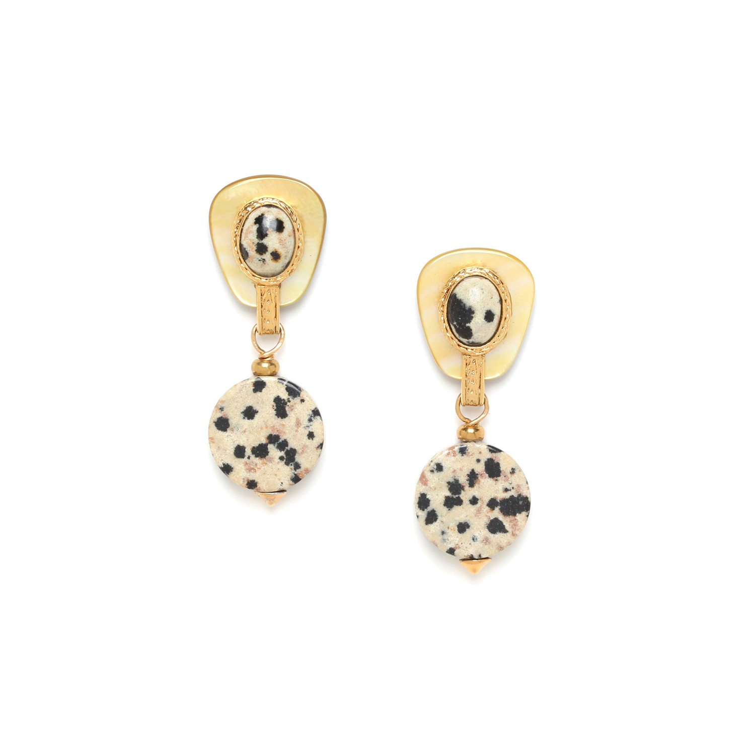 TIZI OUZOU flat bead earrings