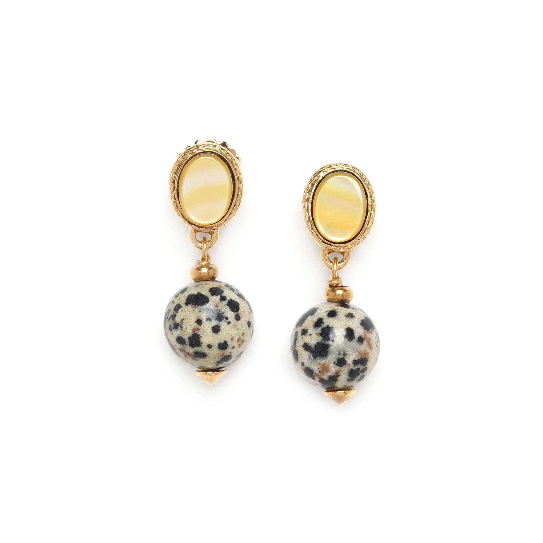 TIZI OUZOU round bead earrings
