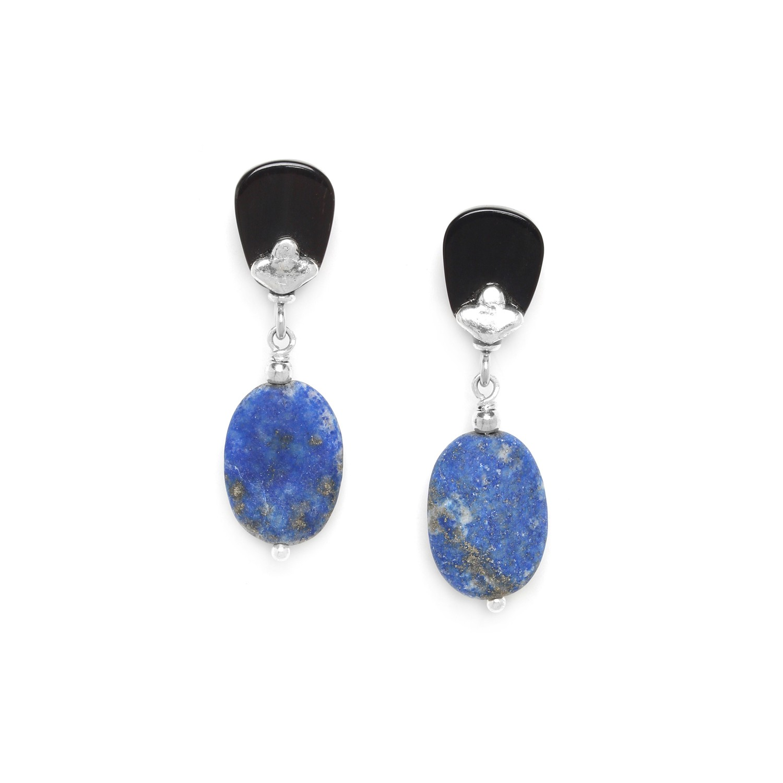 KABYLIE pebble lapis earrings