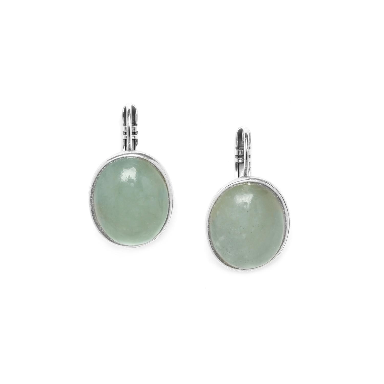 GALETS boucles d'oreilles crochet jade