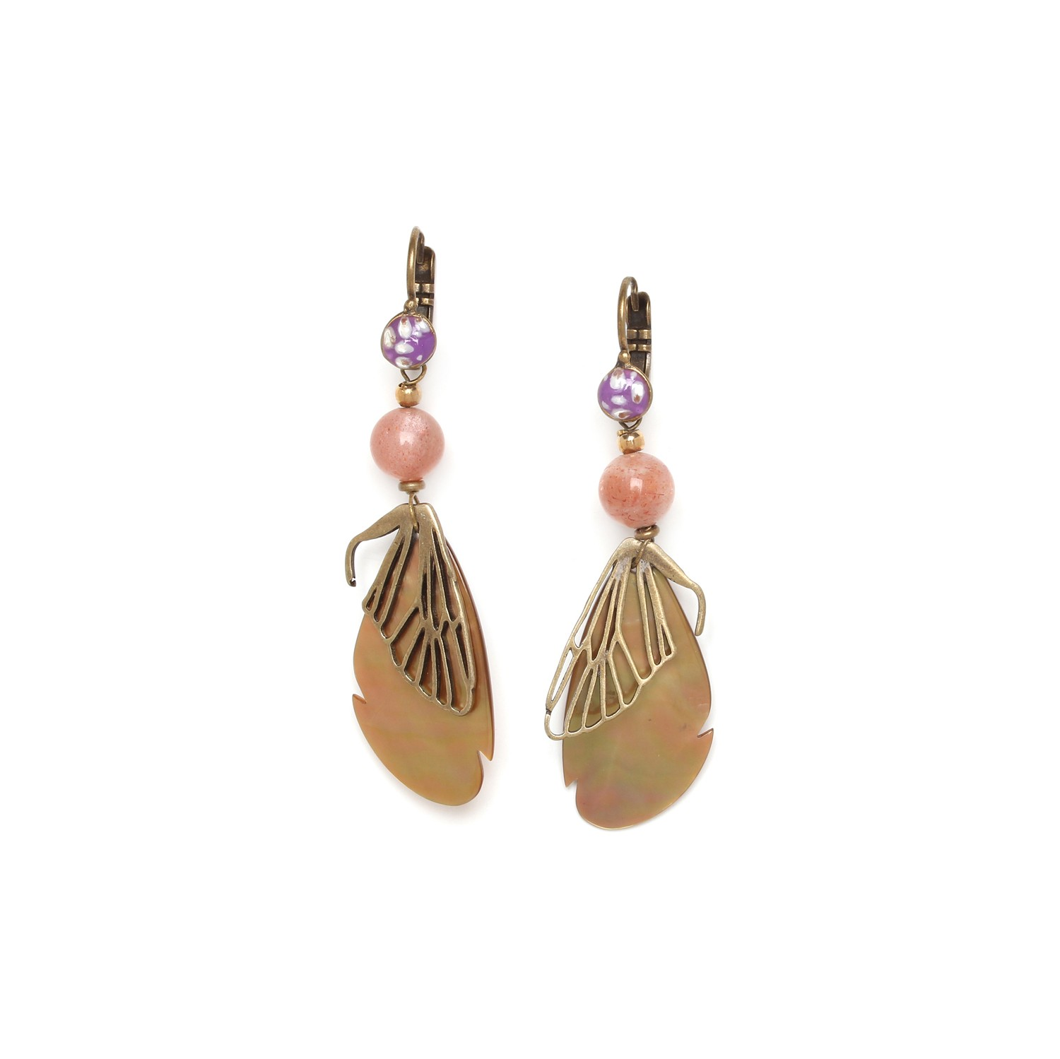 MYSTIQUE cicada wings hook earrings