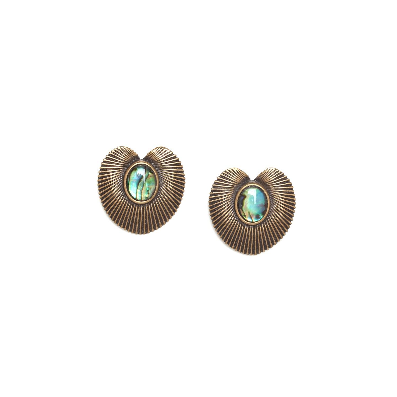 MYSTIQUE paua post earrings