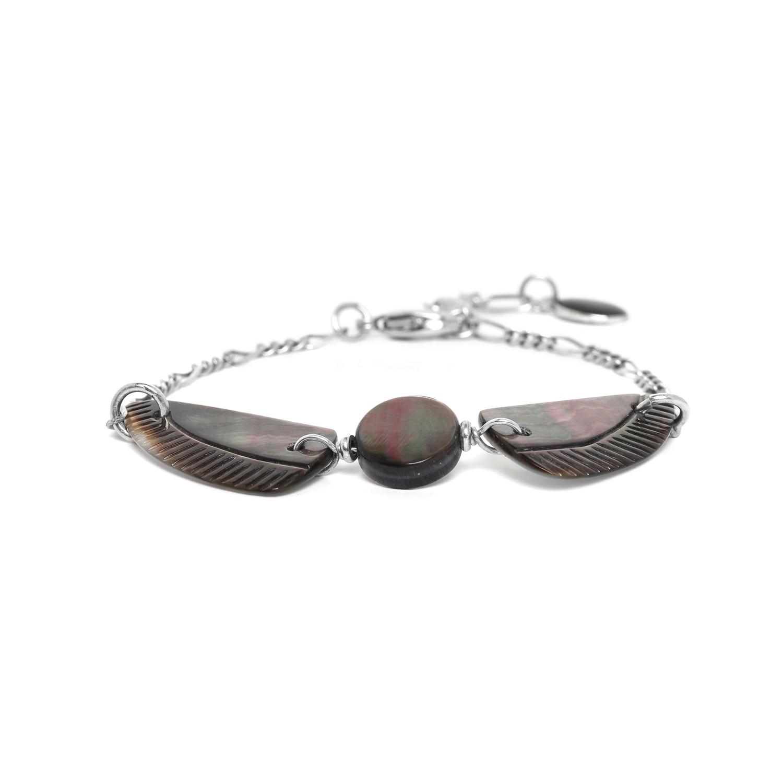 ENVOL bracelet nacre noire