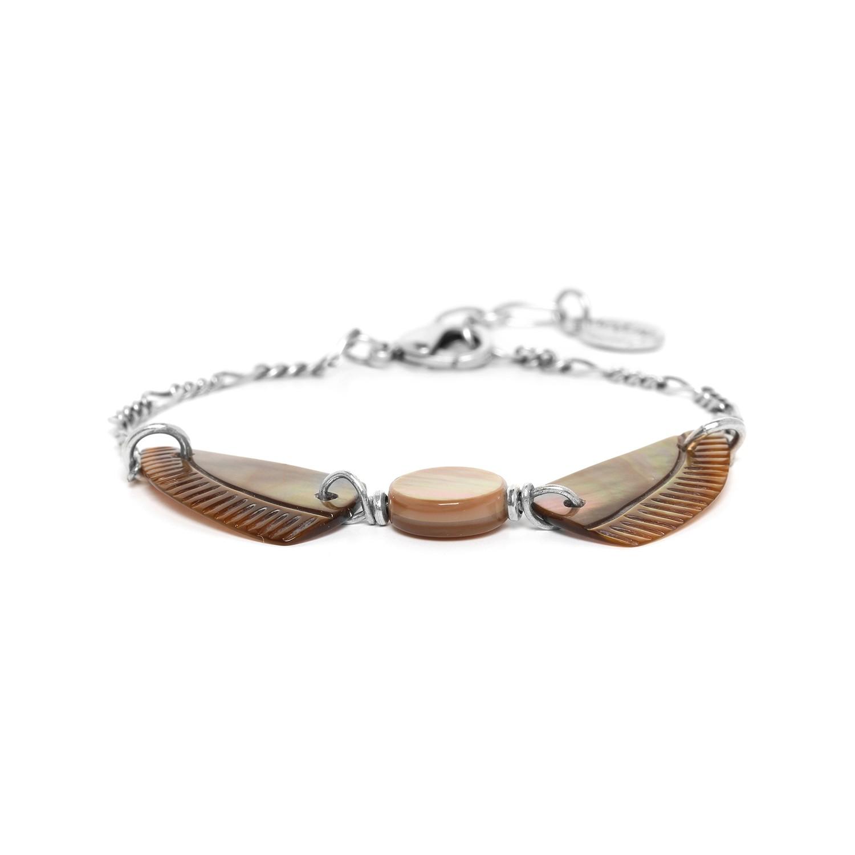 ENVOL bracelet nacre brune
